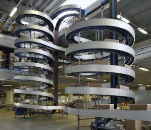 Спиральные модульные конвейеры для транспортировки коробок 1