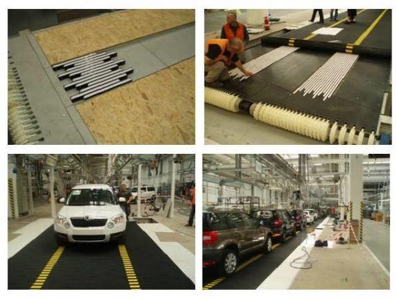 Модульные конвейейры Denirug для сборочных работ на линии производства автомобилей