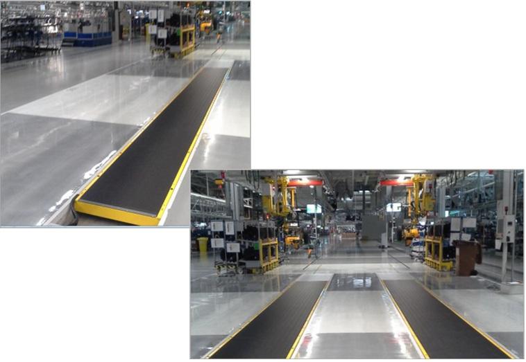Модульные конвейейры Denimove для сборочных работ на линии производства автомобилей