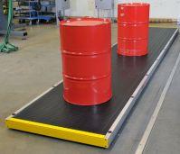 Модульные конвейеры для транспортировки строительных материалов в бочках