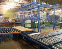 Роликовые конвейеры и угловые трансферты для ДСП