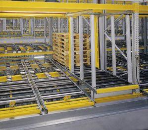 Рольганги для грузовых стеллажей под паллеты