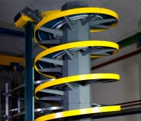 Спиральный конвейер с модульной лентой