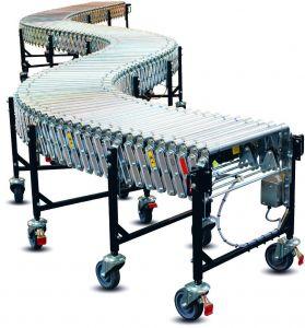Раздвижной роликовый конвейер с приводом